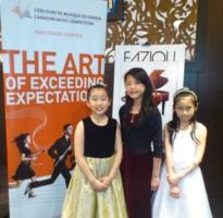 Claire Liu, Julie Wu & Carolyn Yu after CMC Fundraising Concert at Fazioli Showcase Pianos