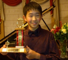 Roger Wang with Richmond Music Festival Gala Concert Award