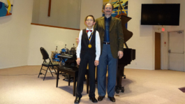 William Lu with BCRMTA Highest Mark Medal for his ARCT Diploma Piano Exam