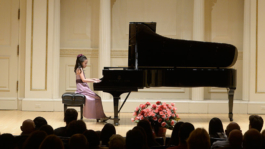 Carolyne Yu performing in Carnegie Hall, New York at the Gala Concert of Protégé Competition winners