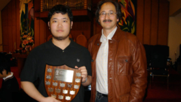 Darrel Lim with BCRMTA Highest Mark Trophy for his ARCT Diploma Piano Exam